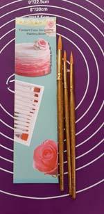 Кисточки кондитерские для пряников в наборе из 3-х 17 см