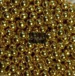 Посыпка кондитерская Шарики Золотые 5 мм