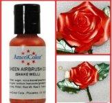 Краситель гелевый сверкающий Красный Red Sheen AmeriColor, 20г